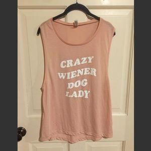 Crazy Wiener Dog Lady Tank!